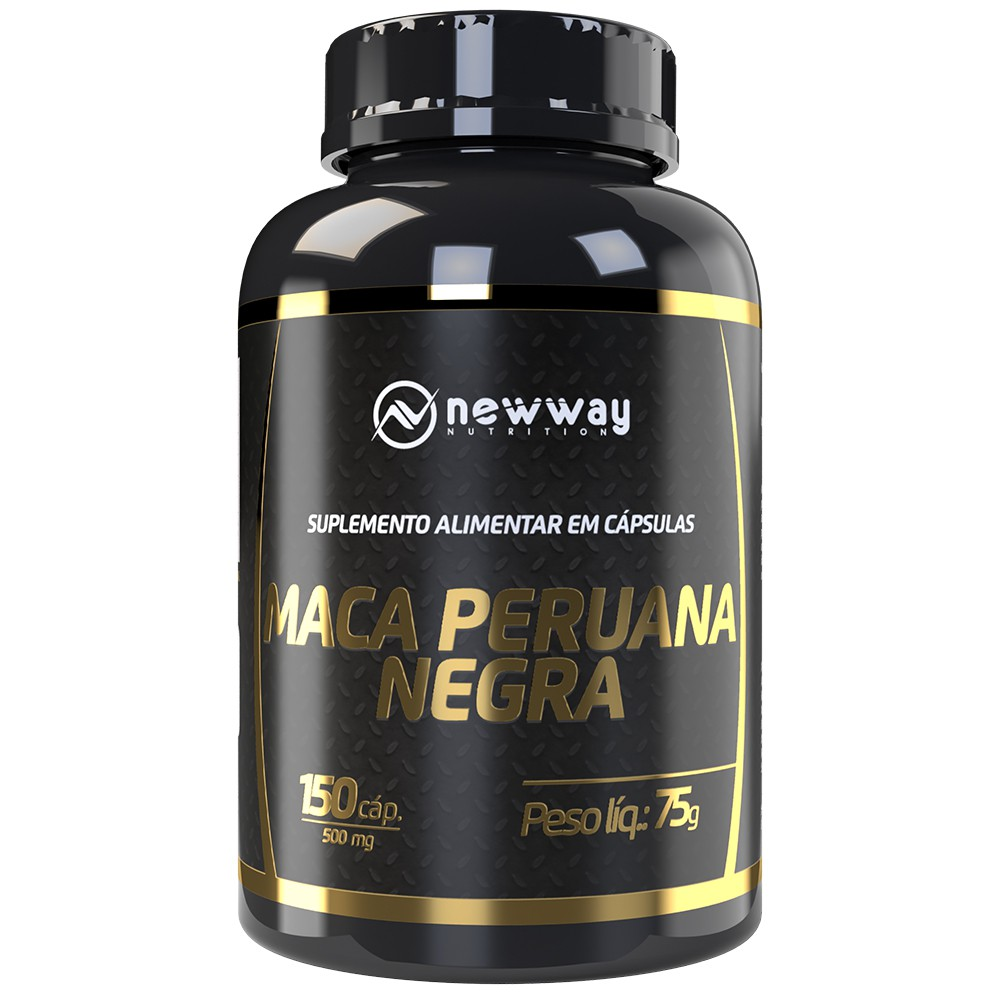 Maca Peruana Negra 150 Capsulas 500mg - New Way