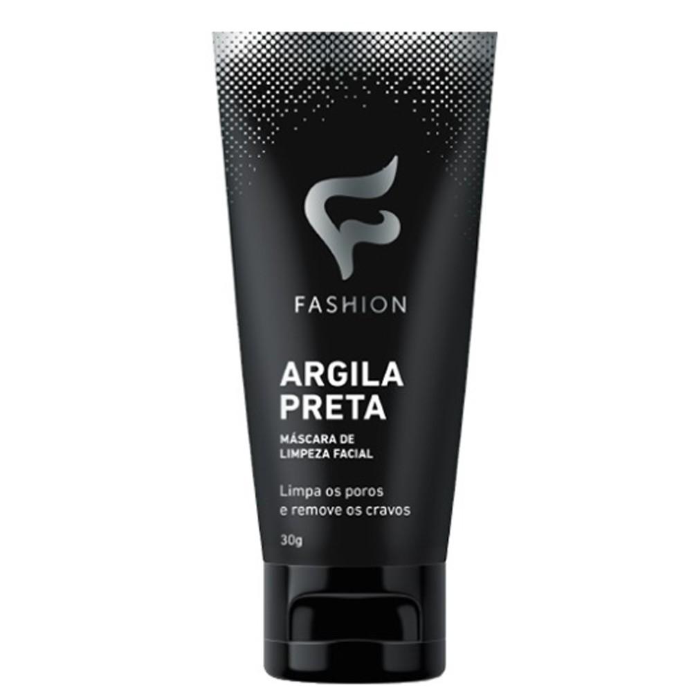 Máscara de Limpeza Facial Argila Preta 30g - Fashion