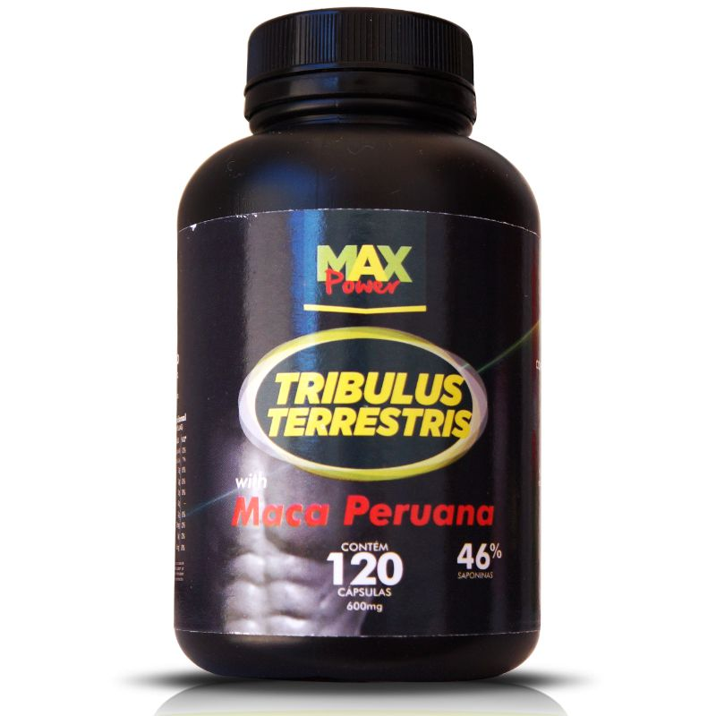 Tribulus Terrestris Max Power Com Maca Peruana 600mg - 120 Capsulas
