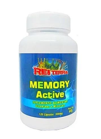 Memory Active Complexo Memória Vitaminas A C B1 D E K2 Colina Potassio 120 Cápsulas 500mg - Rei Terra