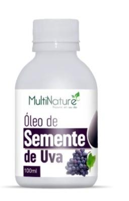 Óleo Vegetal Semente De Uva 100ml - Fonte Resveratrol - Multinature