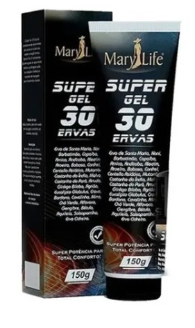 Pomada Super Gel 30 Ervas 150g - Mary Life