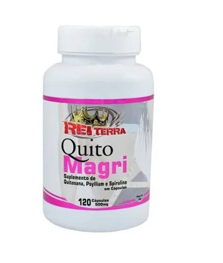 Quito Magri (Quitosana + Psyllium + Spirulina) 120 Cápsulas 500mg - Rei Terra