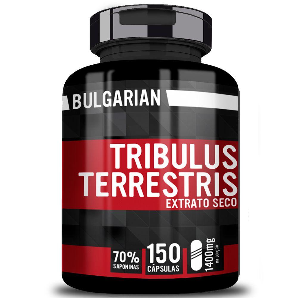 Tribulus Terrestris Extrato Puro Extrato Importado 150 Cápsulas 1400mg - Bulgarian