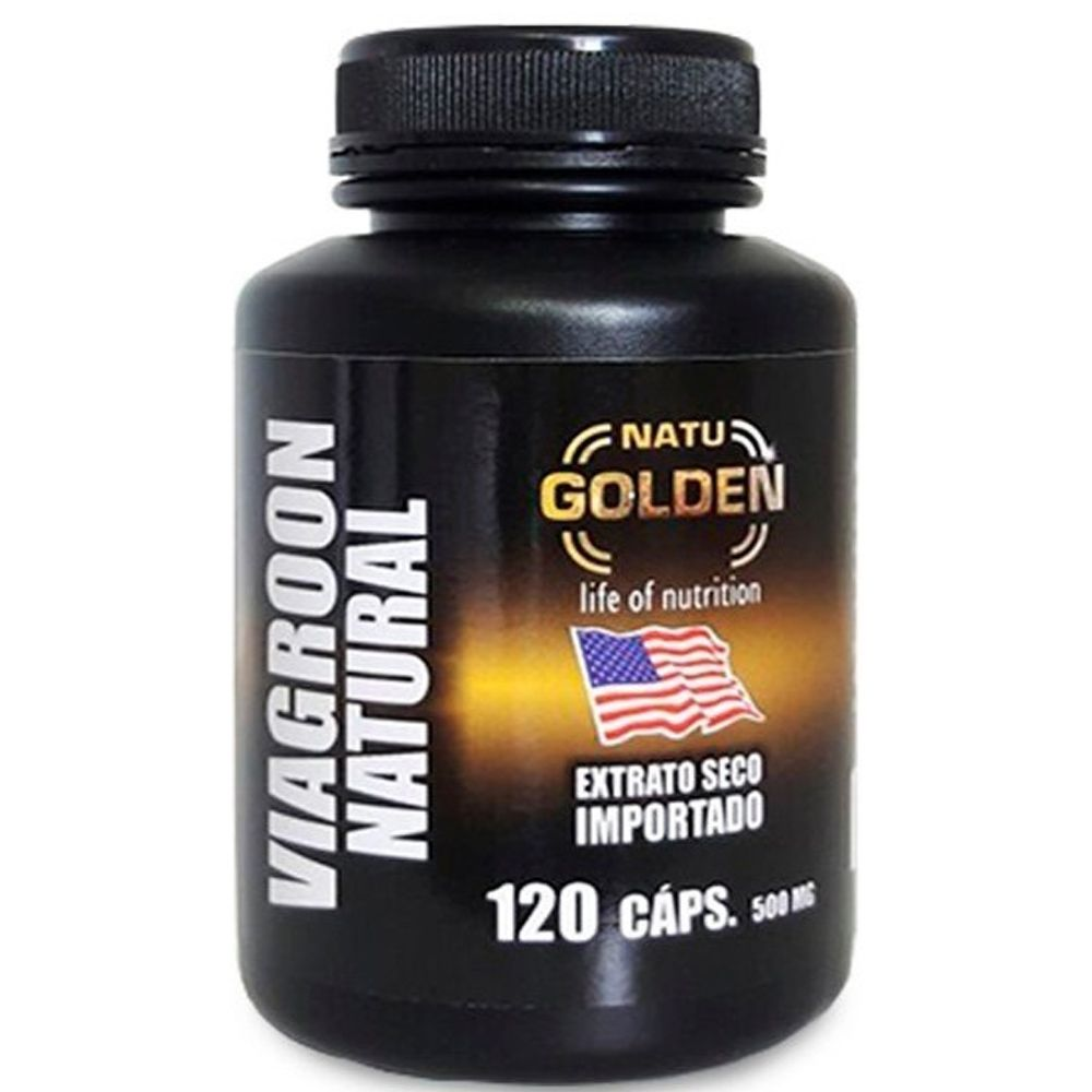Viagron Natural - Extrato Seco Importado 120 Cápsulas 500mg - Natu Golden