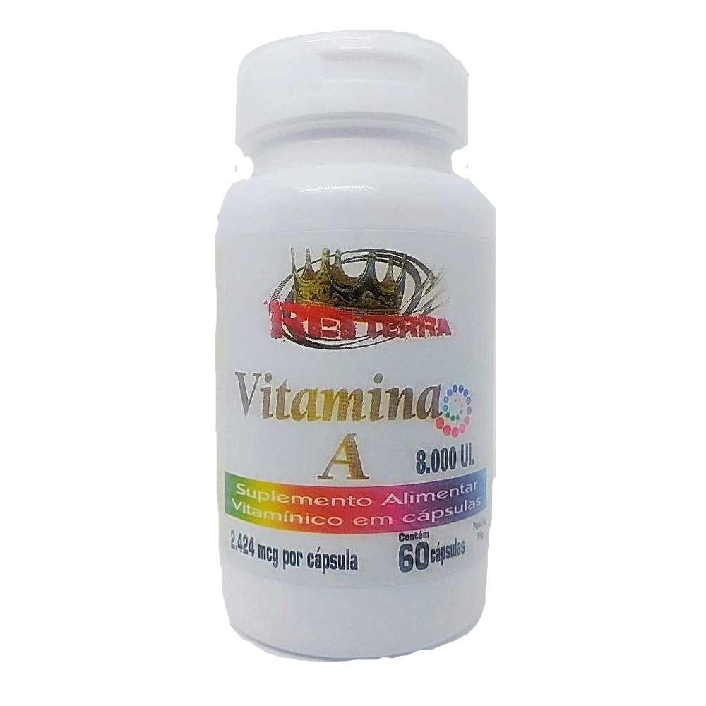 Vitamina A 60 Cápsulas 8000Ui - Rei Terra