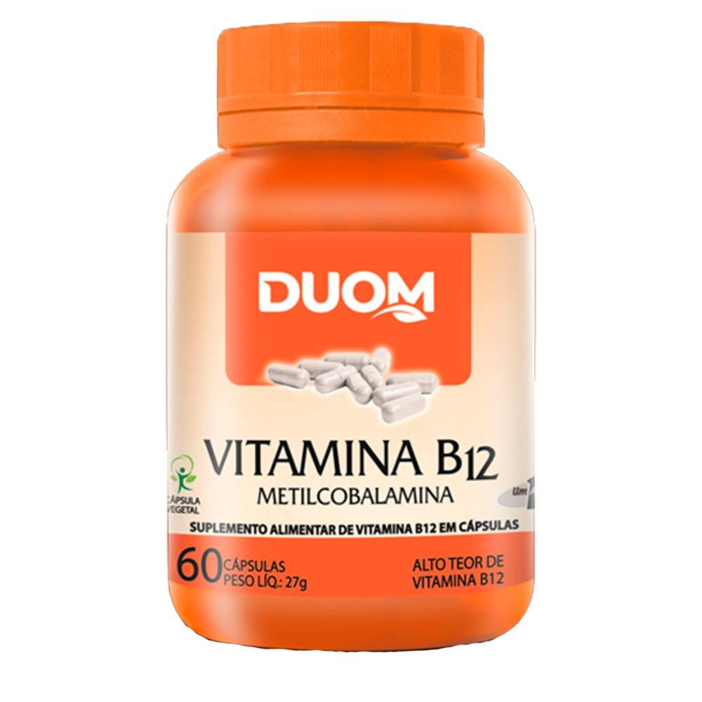 Vitamina B12 Metilcobalamina 60 Cápsulas - Duom