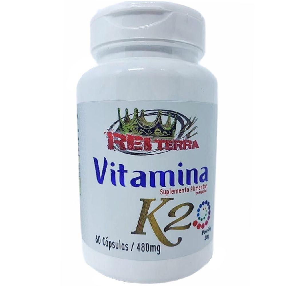 Vitamina K2 60 Cápsulas 480mg - Rei Terra