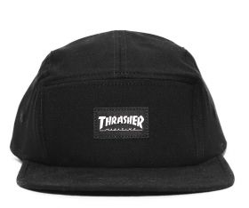 Boné Five Panel Thrasher Mag Logo Preto