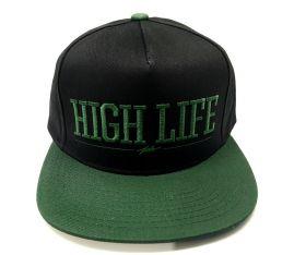 Boné Snapback JSLV HIGH LIFE Preto / verde
