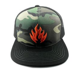 Boné trucker Black Label Logo Camuflado