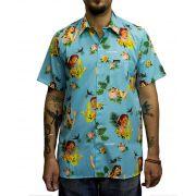 Camisa Drop Dead Tropical Floral