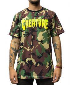 Camiseta Creature Camuflada Logo