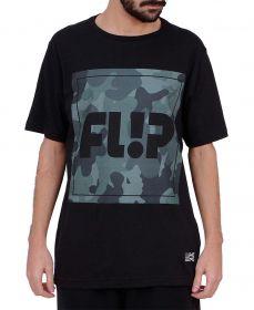 Camiseta Flip Deep Camo Preta