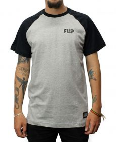 Camiseta Flip Raglan Tube Chest Preto / Cinza