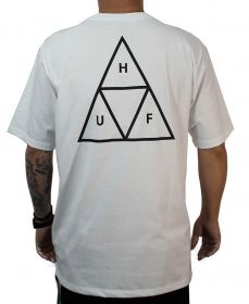 CAMISETA HUF MC ESSENTIALS TT BRANCA