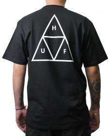 CAMISETA HUF MC ESSENTIALS TT PRETA