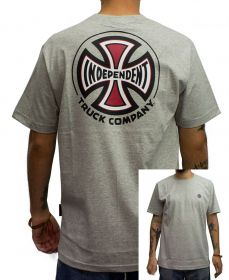 Camiseta Independent BARC Cross Logo Cinza Mescla
