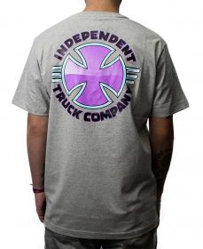 Camiseta Independent Purple Chrome  Cinza Mescla