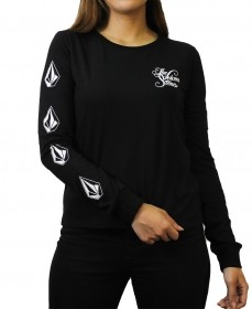 Camiseta Manga Longa Feminina The Volcom Deadly Stones