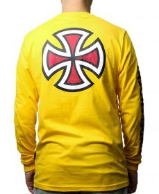 Camiseta Manga Longa Independent Bar Cross Amarela