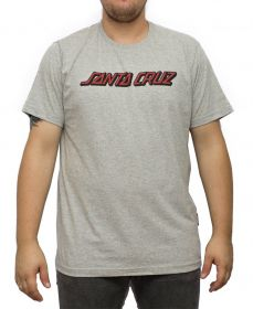Camiseta Santa Cruz Classic Strip Cinza
