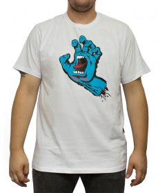 Camiseta Santa Cruz Screaming Hand Branca