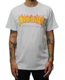 Camiseta Thrasher Magazine Flame Branca