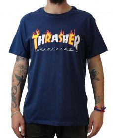 Camiseta Thrasher Magazine Flame Mag Marinho