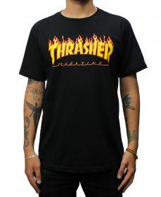 Camiseta Thrasher Magazine Flame Preta