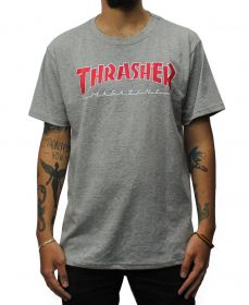 Camiseta Thrasher Magazine Outlined Cinza Mescla