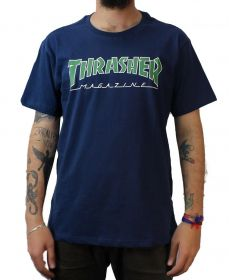 Camiseta Thrasher Magazine Outlined Marinho