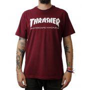 Camiseta Thrasher Magazine Skate Mag Bordo