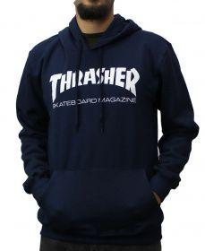 Moletom com Capuz Thrasher Skate Mag Azul Marinho
