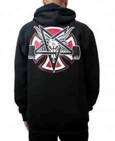 Moletom Independent x Thrasher Pentagram Cross Preto