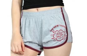 Short New Custom Rose Cinza Mescla