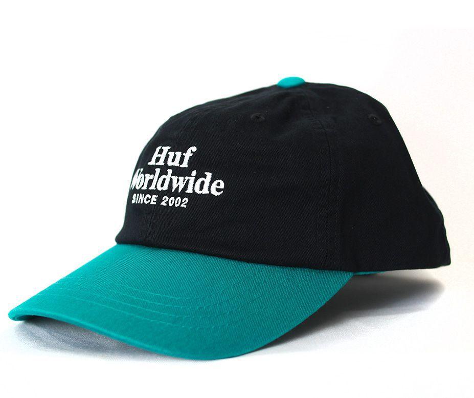 Boné Dad Hat Strapback Huf WorldWide CV 6 Preto