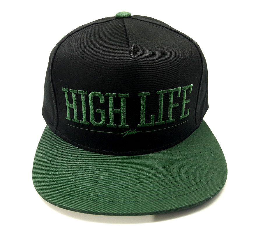 4fe42a52ccf4d Boné Snapback JSLV HIGH LIFE Preto   verde - PMA Skateshop