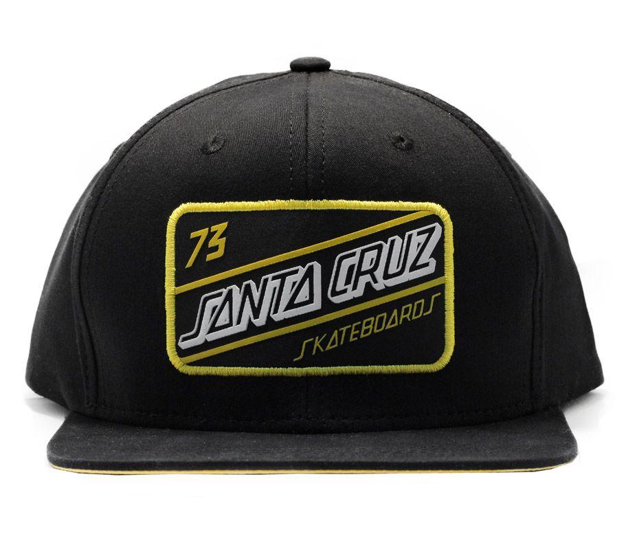 Boné Snapback Santa Cruz Gasolina  Preto / Amarelo
