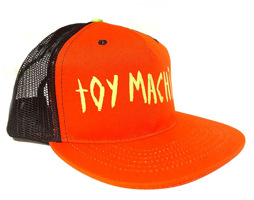 Boné Trucker Toy Machine Laranja Eye on BIll