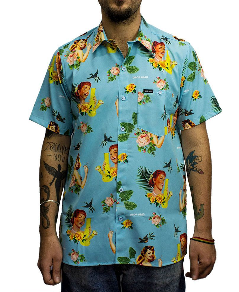Camisa Drop Dead Tropical Floral
