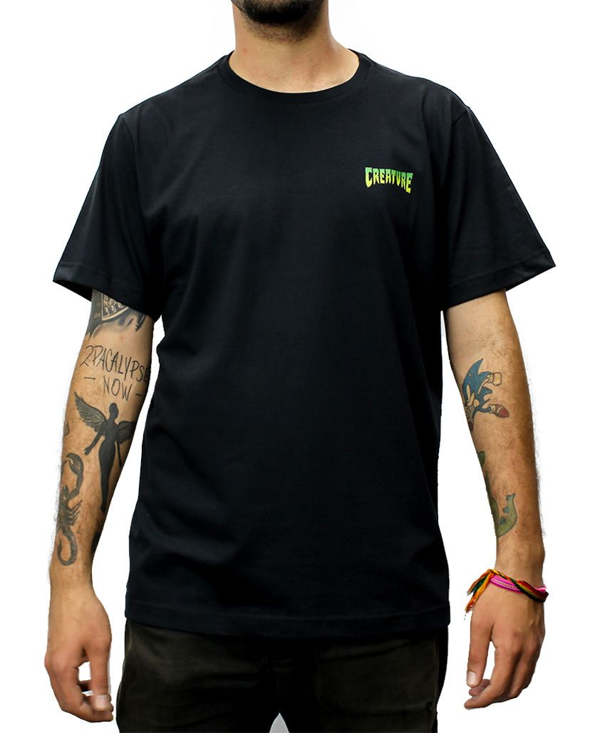 Camiseta Creature Logo Mini Preta