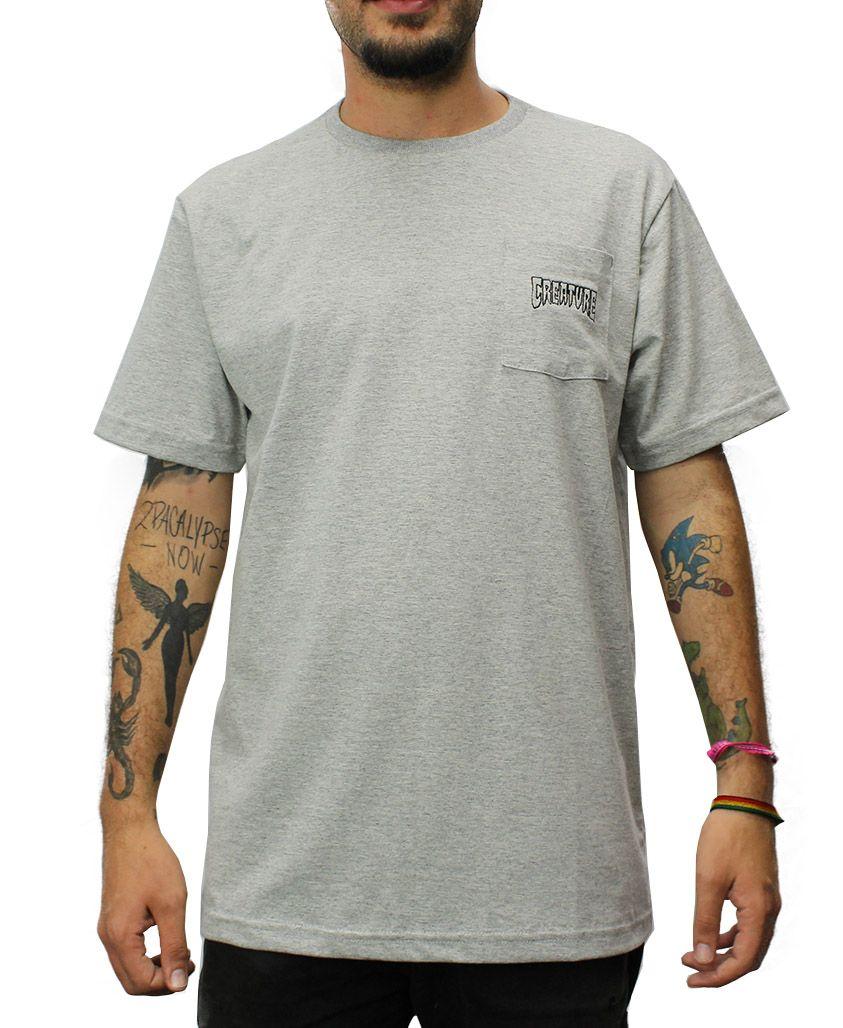 Camiseta Creature Logo Pocket Cinza Mescla