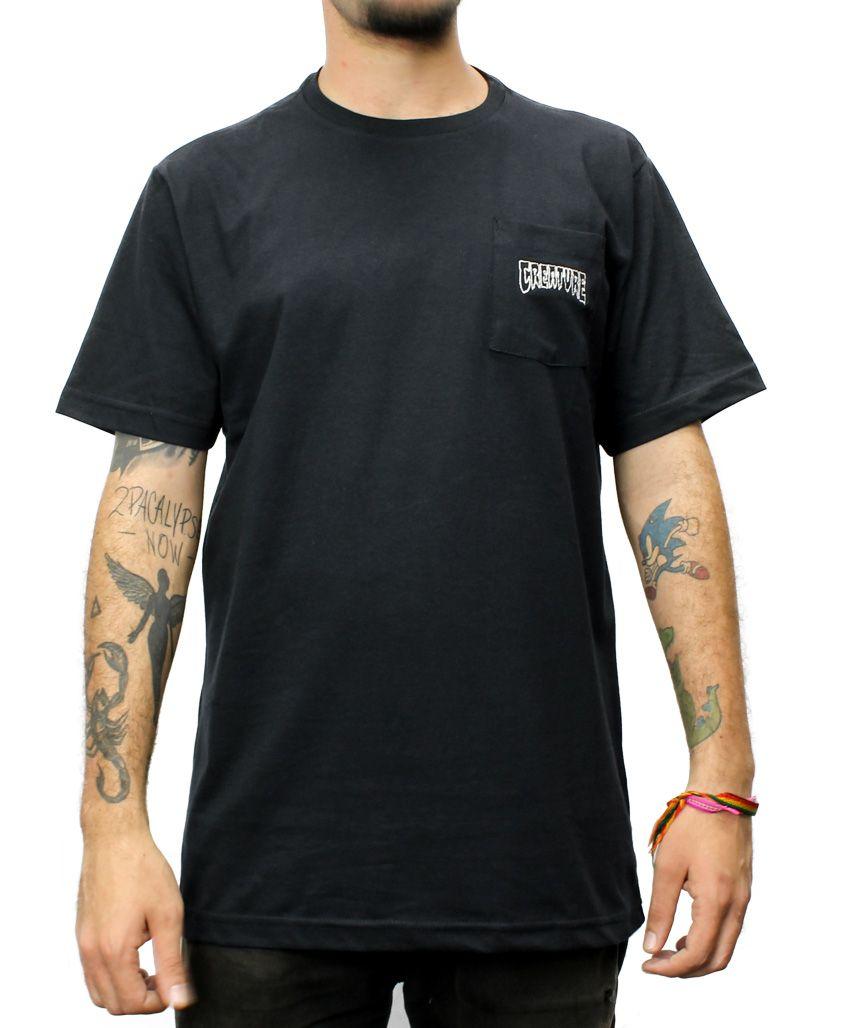Camiseta Creature Logo Pocket Preta