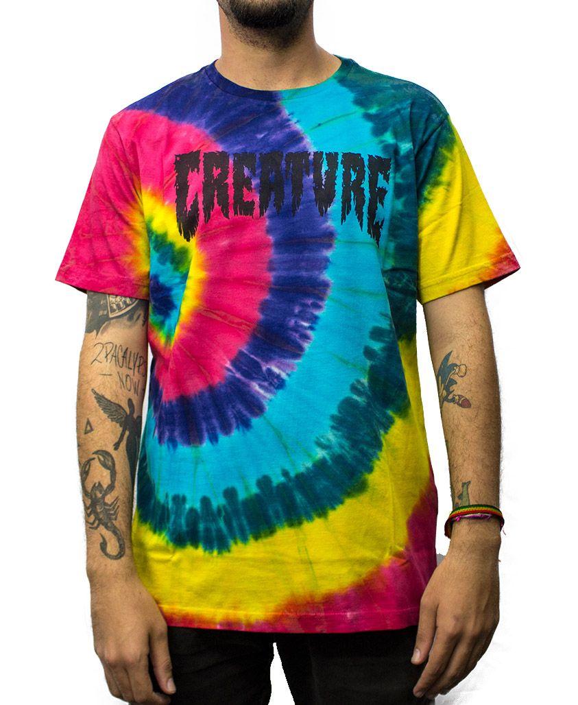 Camiseta Creature Tie Dye Logo