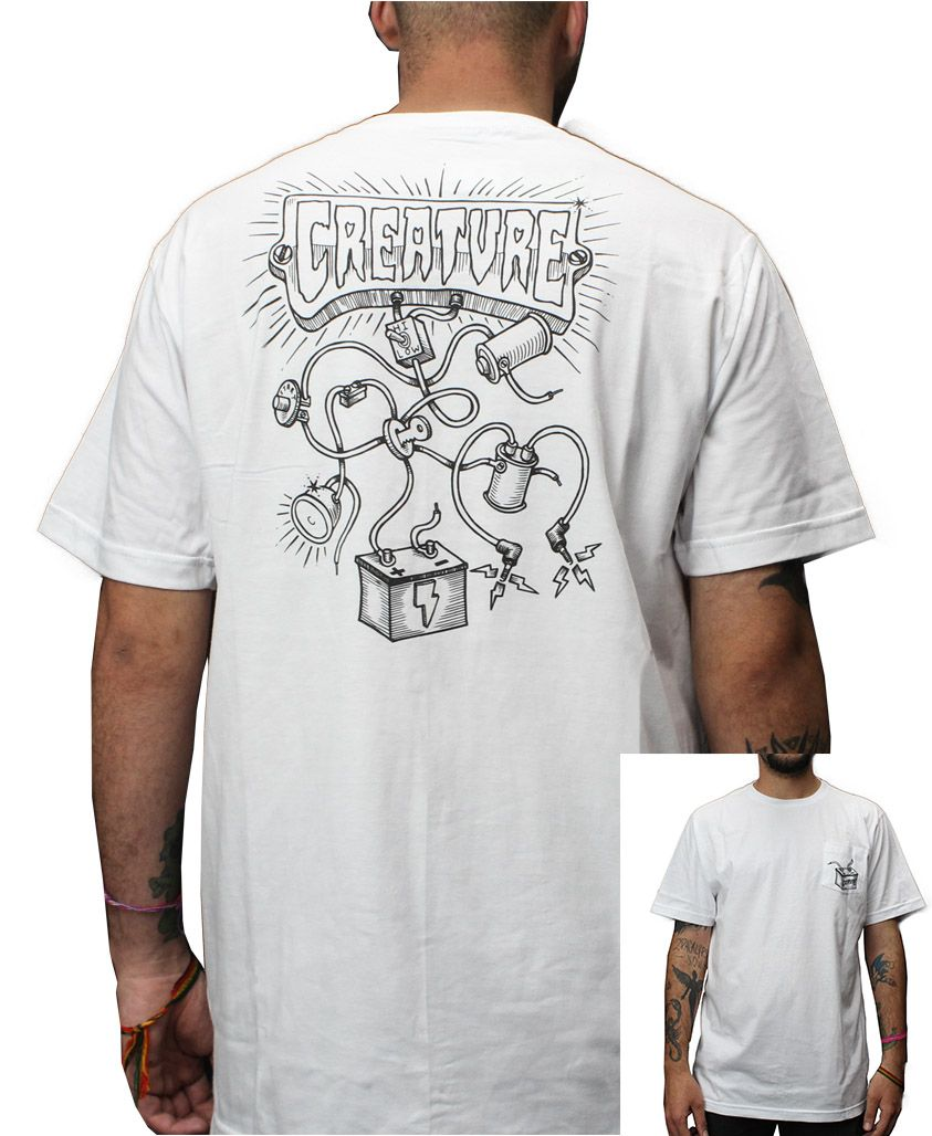 Camiseta Creature Wirez Branca
