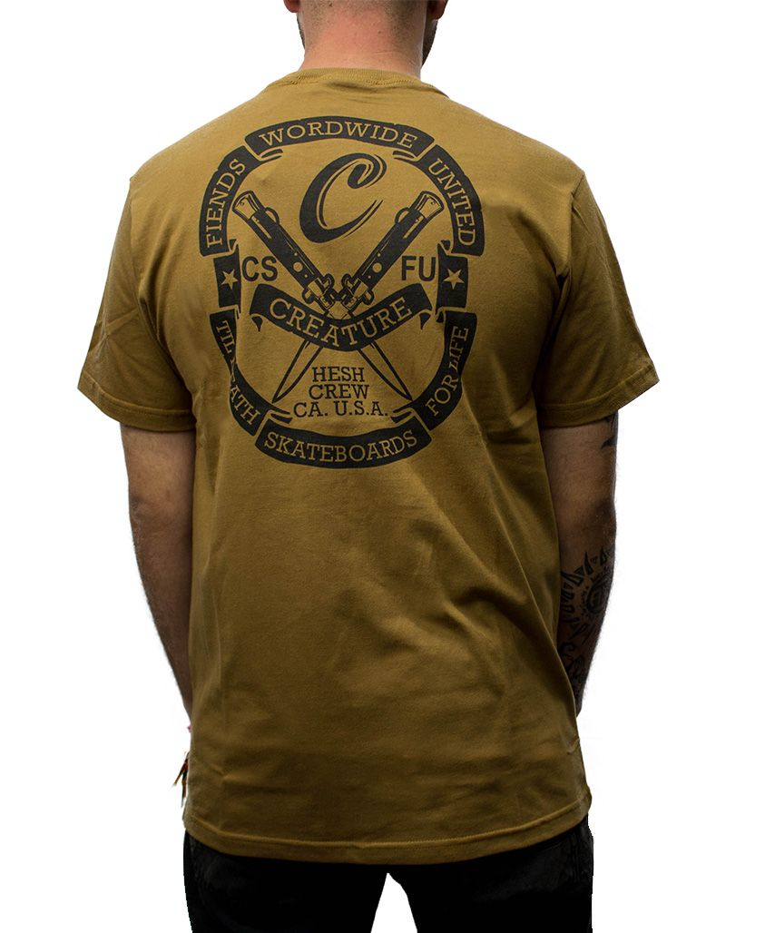 Camiseta Creature Worldwide Marrom