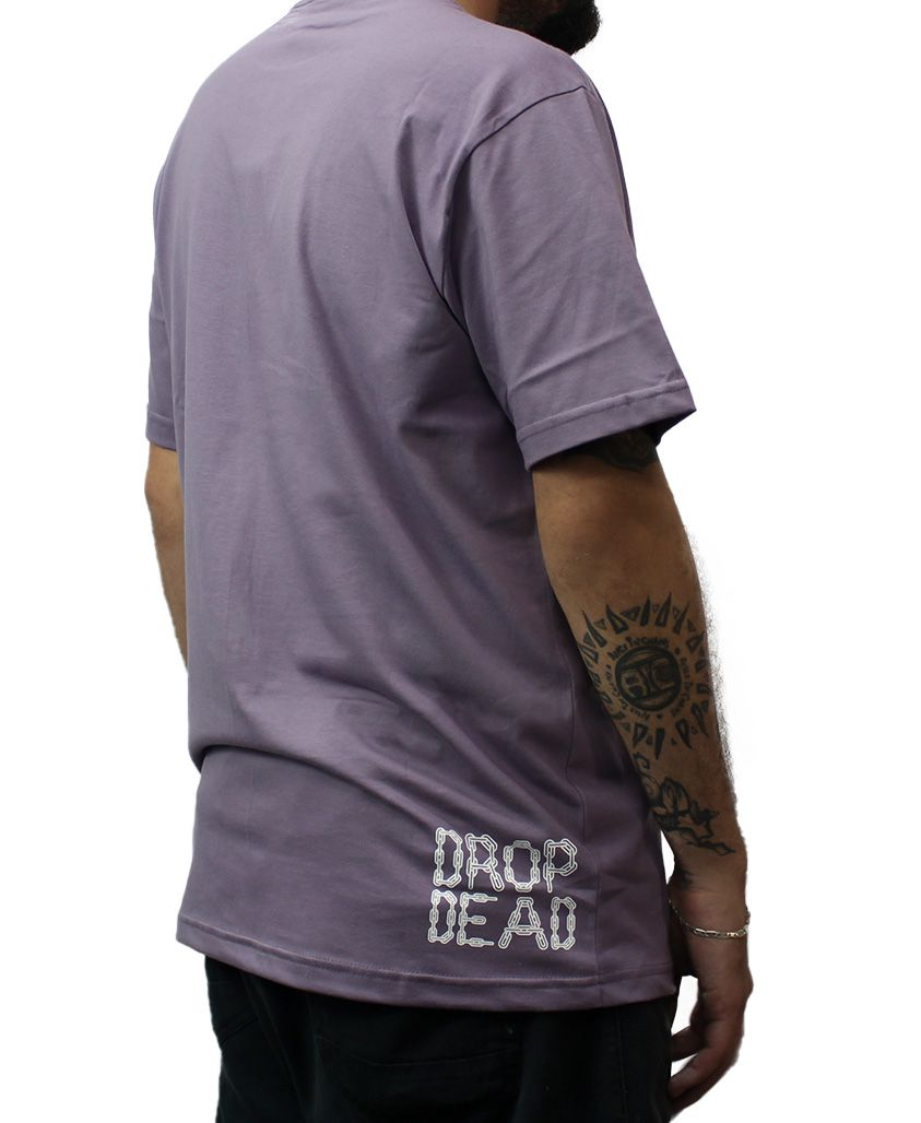 Camiseta Drop Dead Chained Lilás