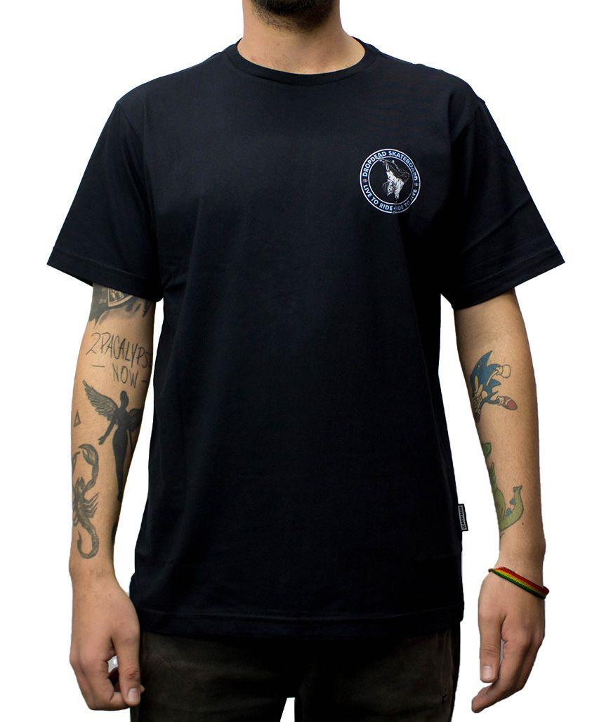 Camiseta Drop Dead Ride To Live Preta