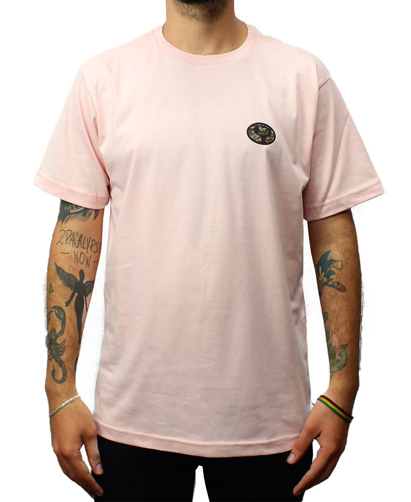 Camiseta Drop Dead Warfare Bottom Rosa